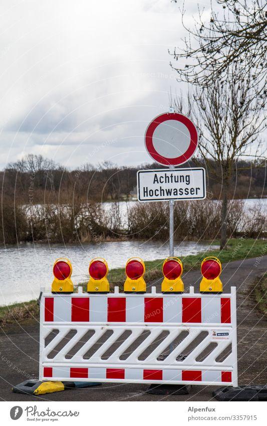 Obacht Umwelt Natur Landschaft Urelemente Wasser Klima Klimawandel Wetter schlechtes Wetter Wiese Feld Schwimmen & Baden Aggression bedrohlich hoch Angst