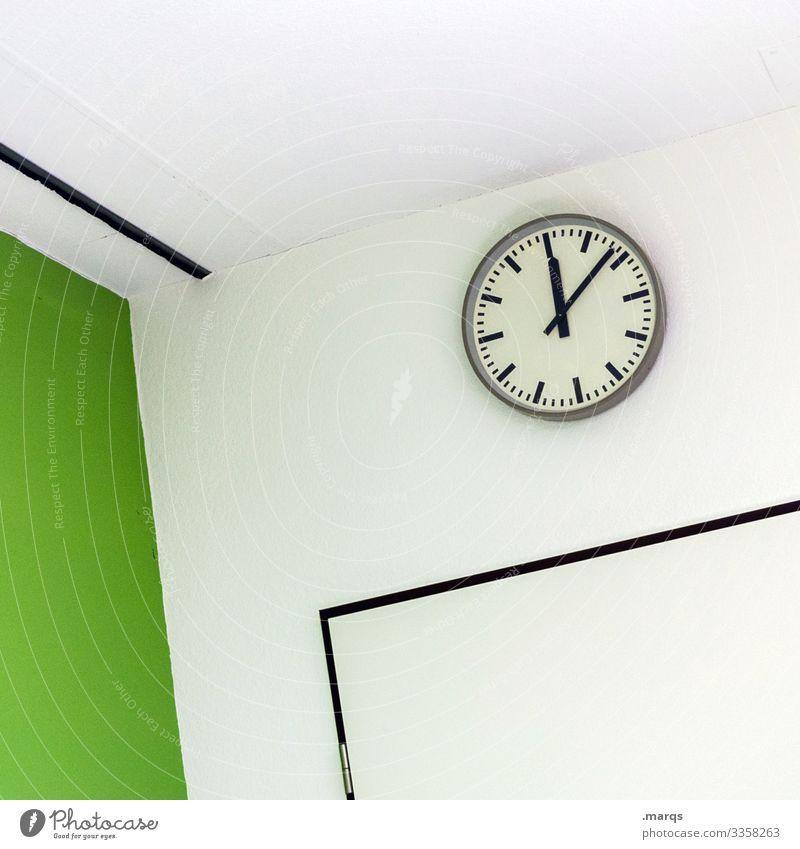 Mittagspause Pünktlichkeit Uhr Innenarchitektur Büro Business Arbeit & Erwerbstätigkeit Design warten Stil Zeit Termin & Datum Sitzung Sauberkeit