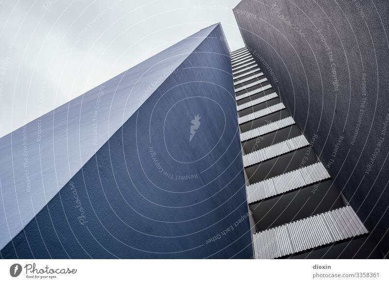 Wohnraum [3] Ludwigshafen Deutschland Rheinland-Pfalz Europa Stadt Stadtrand Menschenleer Haus Hochhaus Bauwerk Gebäude Architektur Mauer Wand Fassade Balkon
