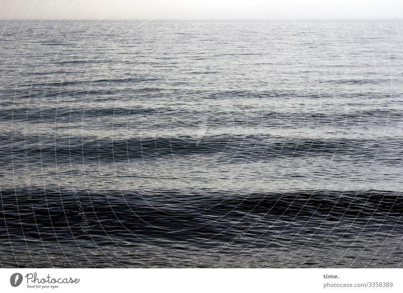 rauschende Stille #4 Umwelt Natur Wasser Horizont Klima Schönes Wetter Wellen Küste Ostsee maritim nass Kraft Macht Leben Ausdauer Inspiration Leichtigkeit