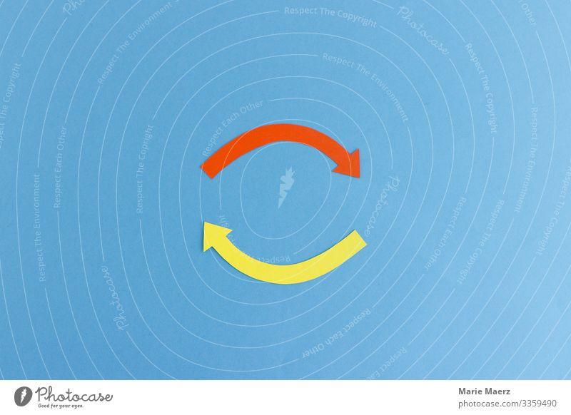 Kreislauf | Zwei Pfeile im Kreis Wechselwirkung pfeile Verstärkung Prozess illustration Grafik u. Illustration Bewegung Konzepte & Themen Detailaufnahme rund