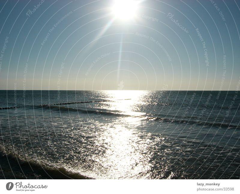 Sonne über Hiddensee Wasser