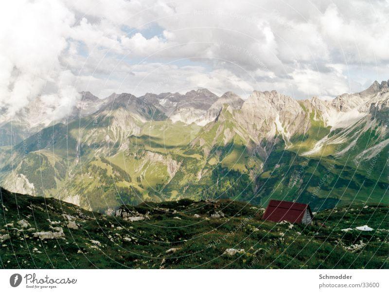 Berglandschaft Berge u. Gebirge Berghütte