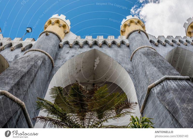 Detail einer Bastion des Palacio da Pena Ferien & Urlaub & Reisen Tourismus Sightseeing Architektur Sintra Portugal Europa Skyline Palast Burg oder Schloss Turm