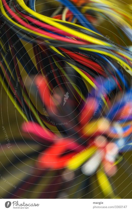 HAPPY BIRTHDAY PHOTOCASE zum 19.Geburtstag, bleib immer im Netz! Kabel Kabelsalat Netzwerk Technik & Technologie bunt Schwache Tiefenschärfe Unschärfe Leitung