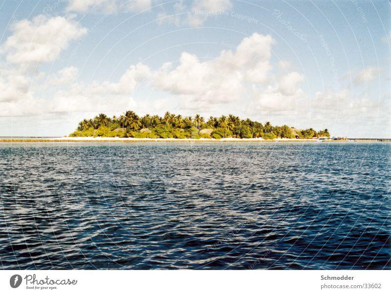 Insel Malediven Himmel Meer Wolken Graffiti