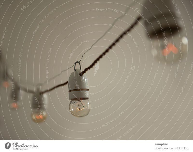 Vintage Lichterkette Beleuchtung Feste & Feiern Party Lampe Häusliches Leben retro leuchten Musik Energiewirtschaft Idylle Hochzeit Restaurant altehrwürdig