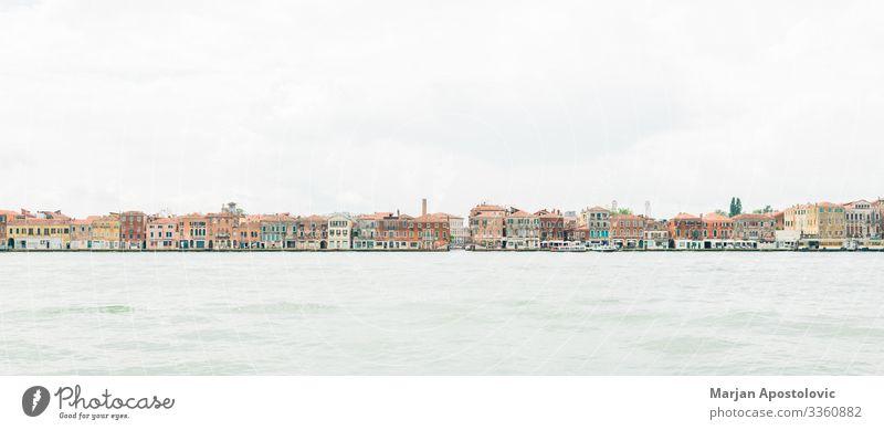 Panoramabild von Venedig auf dem Wasser, Italien Ferien & Urlaub & Reisen Tourismus Sightseeing Städtereise Landschaft Europa Stadt Hafenstadt Stadtzentrum