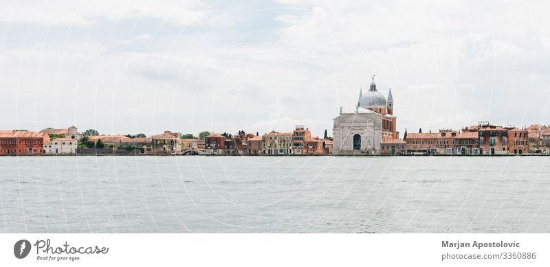 Panoramabild von Venedig auf dem Wasser, Italien Ferien & Urlaub & Reisen Tourismus Ausflug Sightseeing Städtereise Canal Grande Europa Hafenstadt Dom Palast