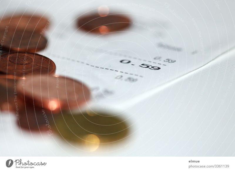 Kassenbon Business klein Armut kaufen Papier Geld rund trendy Dienstleistungsgewerbe Gesellschaft (Soziologie) Gesetze und Verordnungen Wechselgeld beweglich