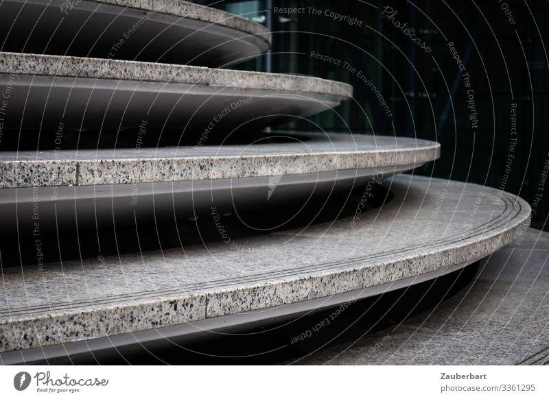 Tellertreppe Stadt dunkel schwarz Architektur Gebäude Stein grau Treppe elegant ästhetisch Beton Bauwerk Stadtzentrum Kurve Präzision Ordnungsliebe