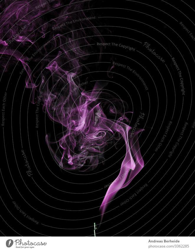 Abstrakter Rauch in Violett elegant Hintergrund Formular Detailaufnahme Aroma purpur rosa Wissenschaft Nebel Entsetzen Atelier ausräuchern Textur Mysterium