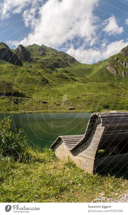 Bergsee Wellness Zufriedenheit Erholung ruhig Meditation Schwimmen & Baden Ferien & Urlaub & Reisen Sommer Sommerurlaub Berge u. Gebirge Natur Landschaft