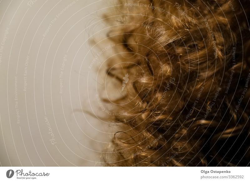 Menschliches, natürlich gewelltes hellblondes Haar Frau Mode Beautyfotografie Behaarung Nahaufnahme Haare & Frisuren Stil Gesundheit Farbe lockig Wellenlinie
