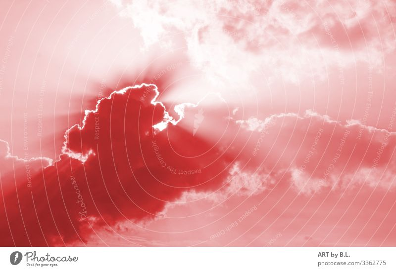 Himmel Umwelt Natur nur Himmel Wolken Gewitterwolken Sonne Sonnenaufgang Sonnenuntergang Klima Wetter Schönes Wetter schlechtes Wetter Regen braun grau rot weiß