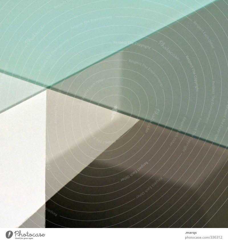 Halbwegs Stil Design Innenarchitektur Linie außergewöhnlich Coolness eckig trendy modern braun grün weiß Ordnung Perspektive Präzision Surrealismus