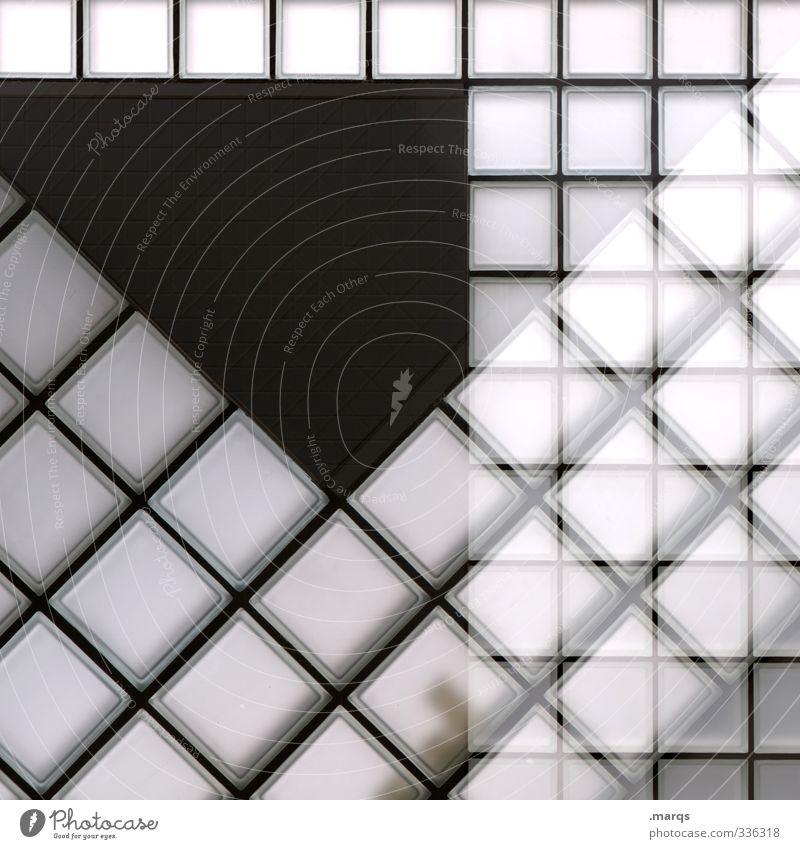 Frame Lifestyle elegant Stil Design Innenarchitektur Bauwerk Mauer Wand Glas Linie außergewöhnlich trendy modern verrückt grau schwarz weiß Perspektive