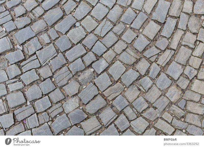 Pfasterkunst Arbeit & Erwerbstätigkeit Beruf Handwerker Gartenbauer Baustelle Straße Wege & Pfade Stein historisch grau Muster Strukturen & Formen Reihe Bogen