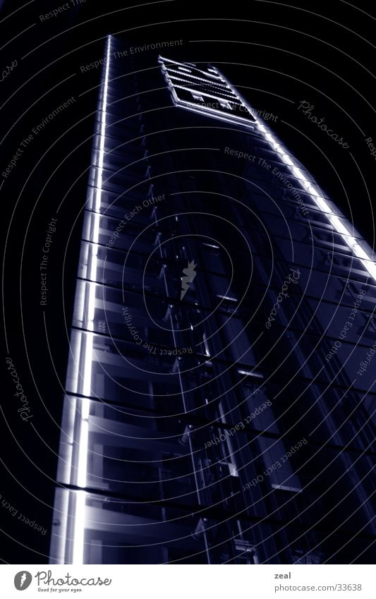 empa - tower Nacht Beleuchtung Architektur blau Turm