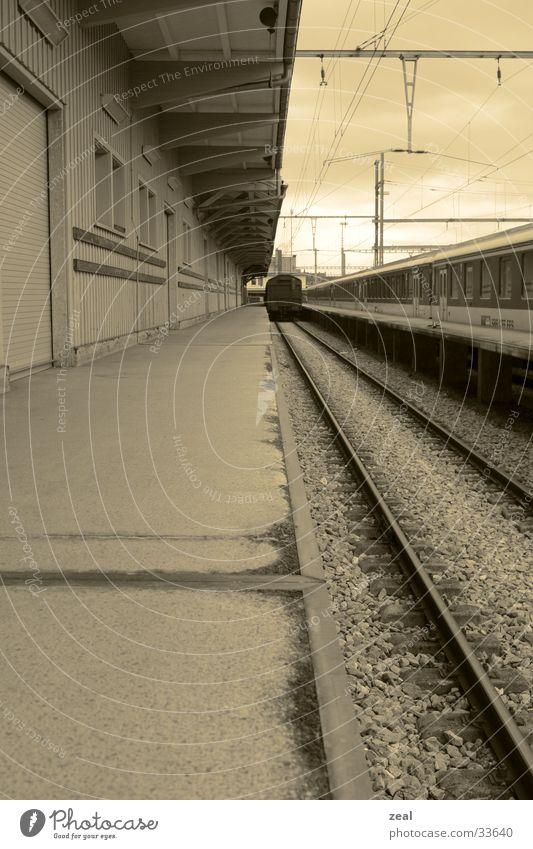 railway Gleise Eisenbahn Fototechnik bahnsteg geleise Bahnhof