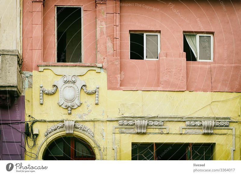 altes gebäude, havanna - kuba Lifestyle Leben Ferien & Urlaub & Reisen Tourismus Ausflug Insel Haus Dekoration & Verzierung Kunst Architektur Kultur Kleinstadt