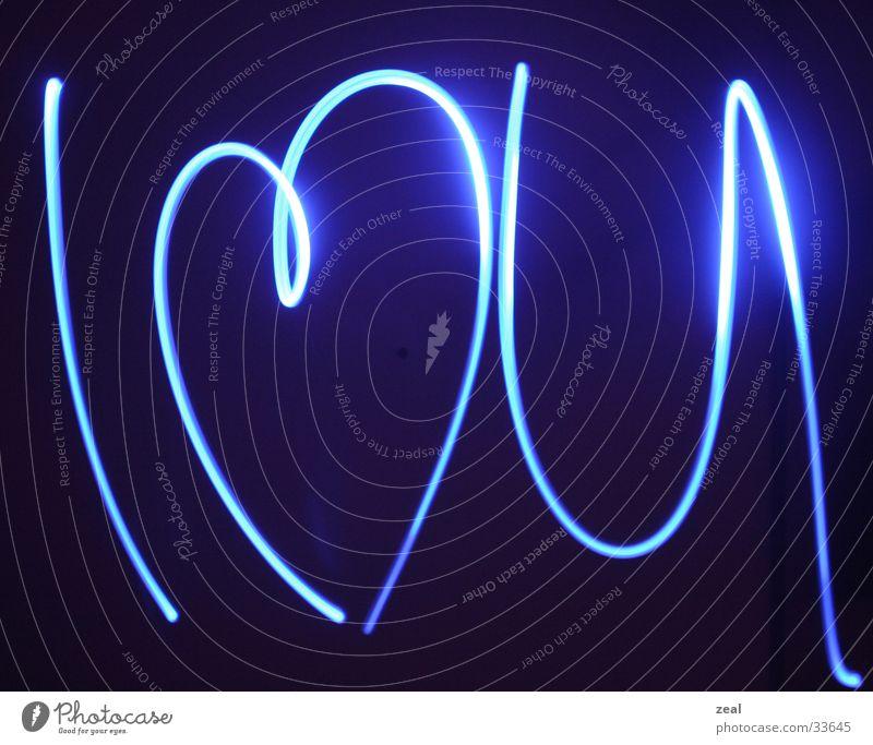 ::.. luv ya ..:: Text Taschenlampe Langzeitbelichtung Liebe i love u schreiben mit licht Herz heart ich liebe dich blau