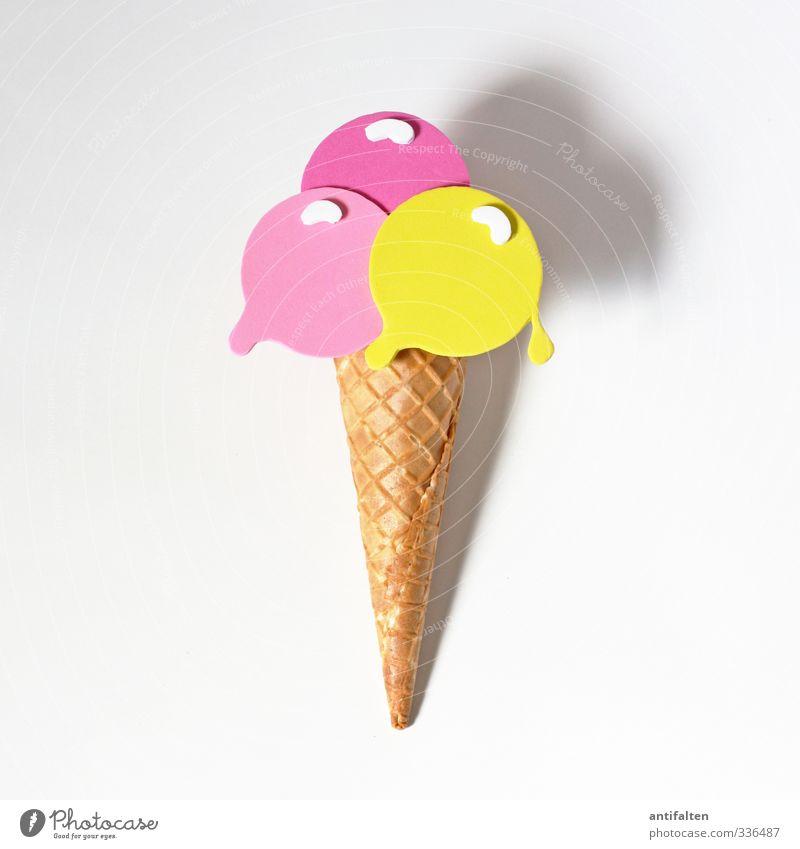 Eis pur Teigwaren Backwaren Dessert Speiseeis Eiswaffel Waffel Hörncheneis Croissant Essen Dekoration & Verzierung Moosgummi Kunststoff liegen Freundlichkeit