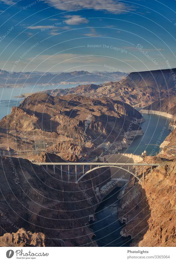 Hoover Dam - Hoover Dam Bypass - Colorado River Bridge - USA Umwelt Natur Landschaft Luft Wasser Himmel Sonne Fluss Amerika Brücke bauen fliegen Blick schön