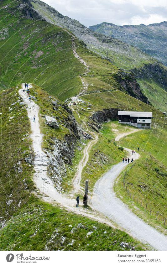 Kletterweg Ferien & Urlaub & Reisen Tourismus Ausflug Abenteuer Expedition Berge u. Gebirge wandern Natur Alm Weide Berghütte Bergkamm Wege & Pfade Abzweigung