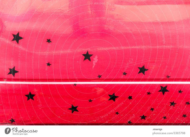 Stars and Stripe Metall Streifen Stern (Symbol) schwarz rot Autotür rennstreifen Fahrzeug Linie KFZ Verkehrsmittel