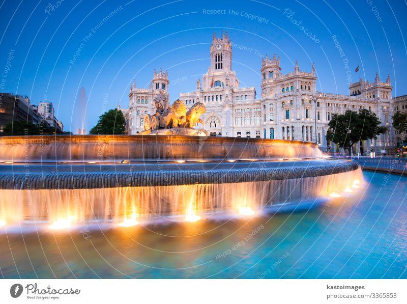 Plaza de Cibeles, Madrid, Spanien. Ferien & Urlaub & Reisen Tourismus Büro Kunst Kultur Palast Platz Gebäude Architektur Fassade alt Kommunizieren historisch