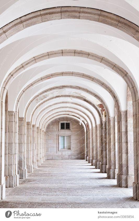 Gewölbter Saal - architektonisches Detail der Benediktinerabtei Stil Ferien & Urlaub & Reisen Tourismus Lampe Kunst Museum Kultur Bibliothek Erde Palast Gebäude