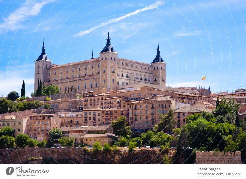 Alcazar von Toledo Ferien & Urlaub & Reisen Tourismus Haus Landschaft Erde Himmel Hügel Stadt Palast Burg oder Schloss Gebäude Architektur Fassade Terrasse
