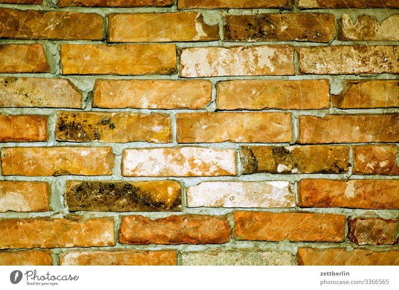 Mauerwerk Backstein Baustelle Fuge Gebäude Hintergrundbild Mauerstein Montage Wohnung Wohnungssituation Menschenleer Textfreiraum Innenaufnahme