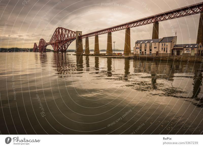 Eisenbahnbrücke Firth of Forth. Lifestyle Design Leben Erholung Freizeit & Hobby Ferien & Urlaub & Reisen Tourismus Sightseeing Städtereise Wirtschaft Industrie