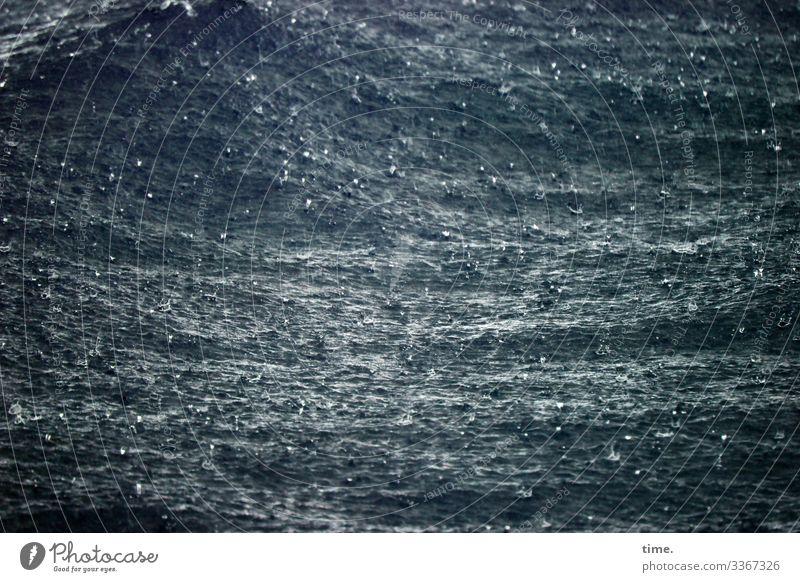rau ist die See Umwelt Natur Wasser schlechtes Wetter Regen Wellen Ostsee Meer außergewöhnlich dunkel maritim nass Gefühle Stimmung Kraft Macht Wachsamkeit
