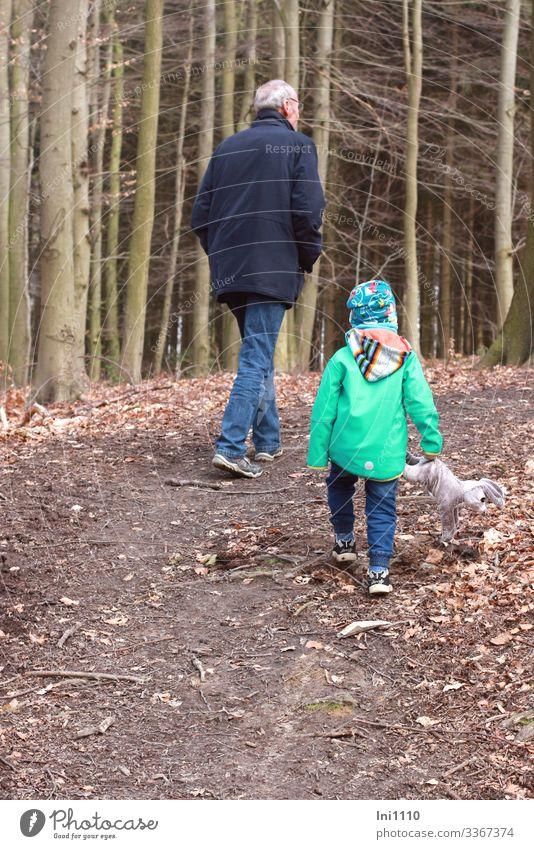 Osterspaziergang I maskulin Kind Junge Mann Erwachsene Männlicher Senior Großvater 2 Mensch 3-8 Jahre Kindheit 60 und älter Bewegung laufen wandern Freude