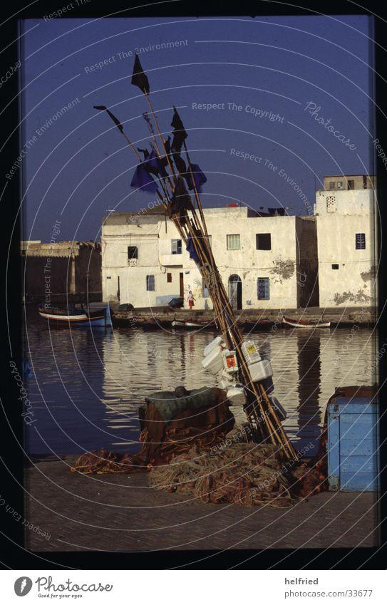 fischerhafen Romantik Hafen Fischer Moral Afrika Tunesien Fischernetz Fischereihafen