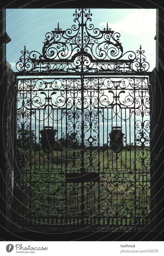 schlossportal dunrobin castle schottland Park Architektur Europa Burg oder Schloss Schottland Portal Großbritannien Eingang
