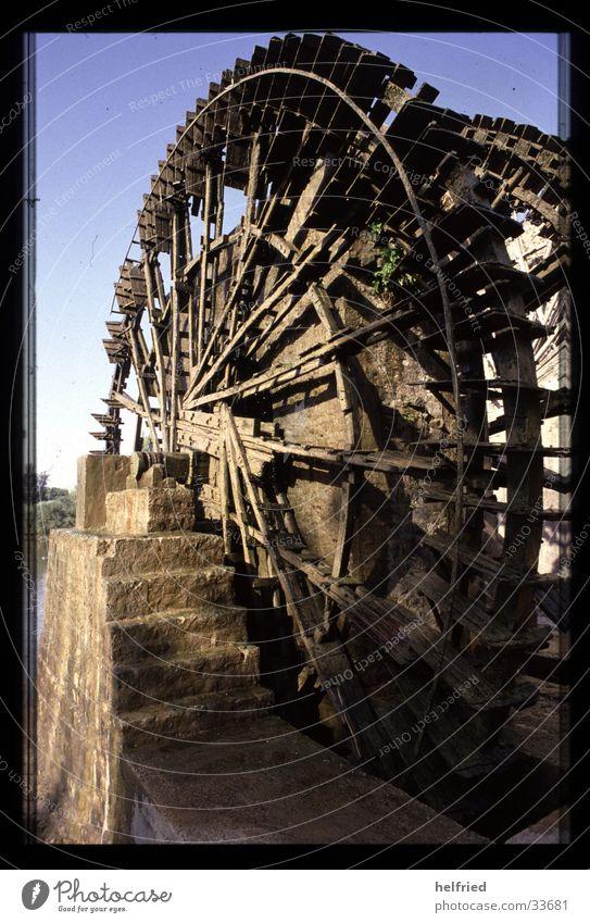 schöpfrad in Homs Syrien Ferien & Urlaub & Reisen Technik & Technologie Naher und Mittlerer Osten Elektrisches Gerät Bewässerung Wasserrad Schöpfrad