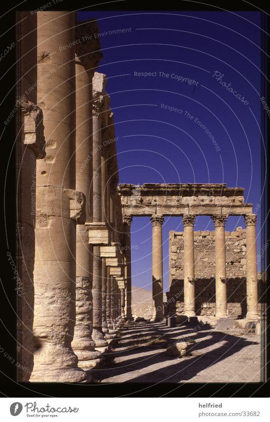 Palmyra baaltempel Architektur Wüste Syrien Arabien Naher und Mittlerer Osten Tempel des Baal-Shamin