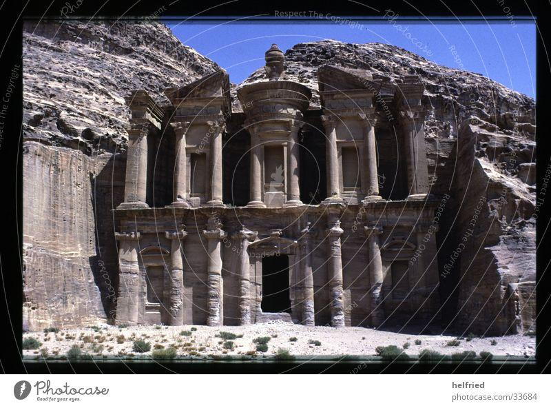 Petra Ed-deir Architektur Wüste Grab Arabien Naher und Mittlerer Osten Jordanien