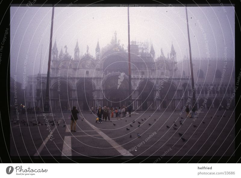 novembernebel in venedig Italien Venedig November Nebel Architektur