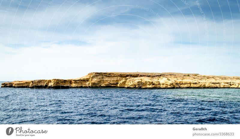 Ägypten Sharm El Sheikh Südsinai Rotes Meer Blick auf die Felsen Ferien & Urlaub & Reisen Sommer Wellen Tapete Landschaft Himmel Wolken Horizont Schönes Wetter