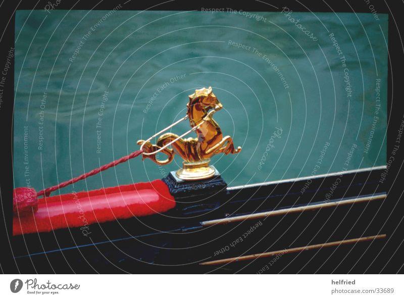 gondel Europa Italien Venedig Detailaufnahme Gondel (Boot) Tierfigur Bildausschnitt gold Skulptur skulptural