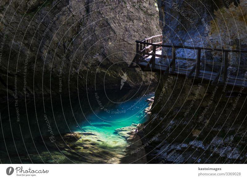 Die fabelhafte Vintgar-Schlucht in Slowenien in der Nähe des Bleder Sees schön Ferien & Urlaub & Reisen Tourismus Sommer Sonne Umwelt Natur Landschaft Park Wald