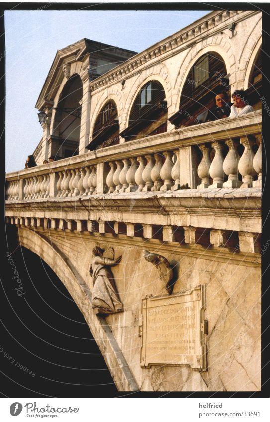 ponte rialto Italien Venedig Europa Brücke Perspektive Architektur