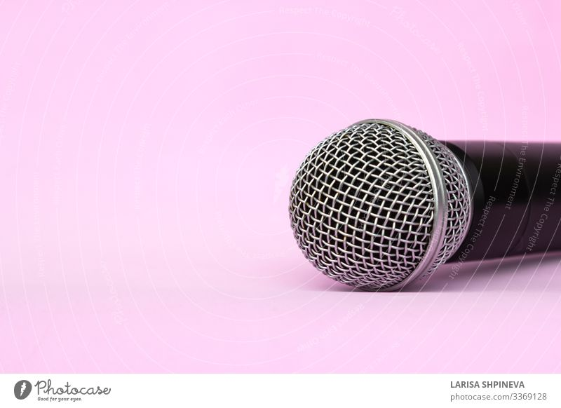 Drahtloses Silbermikrofon für Tonaufnahmen, Karaoke Stil Freizeit & Hobby Entertainment Musik sprechen Technik & Technologie Konzert Sänger Medien Metall