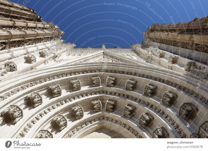 Seville Cathedral - Entrance Ferien & Urlaub & Reisen Sightseeing Kirche Dom Fassade Sehenswürdigkeit Religion & Glaube Gateway Arch Sevilla Eingang Gotik