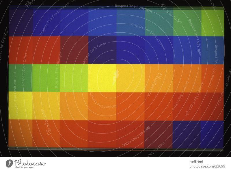spektrum grün blau rot gelb Farbe dunkel hell Dinge Quadrat spektral